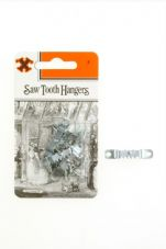 X Saw Tooth Hangers - Zinc Plated (Blister Pack)